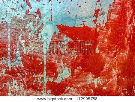 Grungy red metal sheet texture