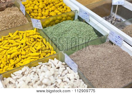 Spices For Sale At Souq Wagif, Doha