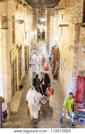 People At The Souq Waqif, Doha