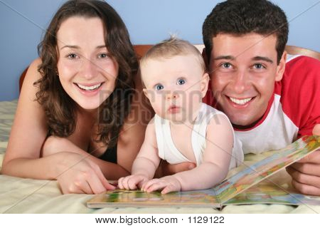 Family With Baby Read Book