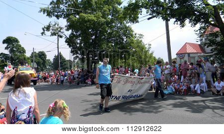 Young Americans Banner in 4th of July Parade