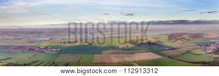 rural area with fields near Bad Frankenhausen Germany