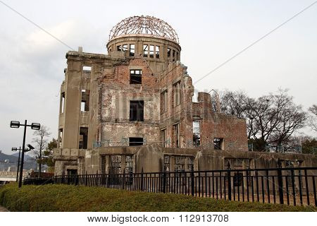 Genbaku (Atomic Bomb) Dome in Hiroshima Japan