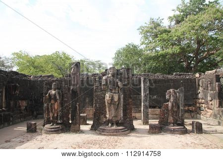 Hatadage in Sacred Quadrangle Polonnaruwa Sri Lanka