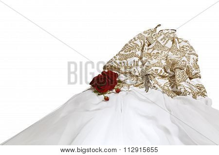Formal Dress with a Red Rose
