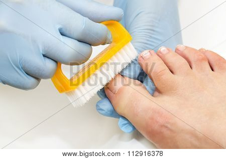 process of pedicure
