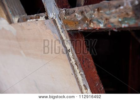 Detail Of Ship's Repair