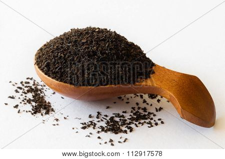 Wooden Spoon With Black Tea