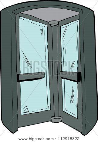 Interior Of Revolving Door