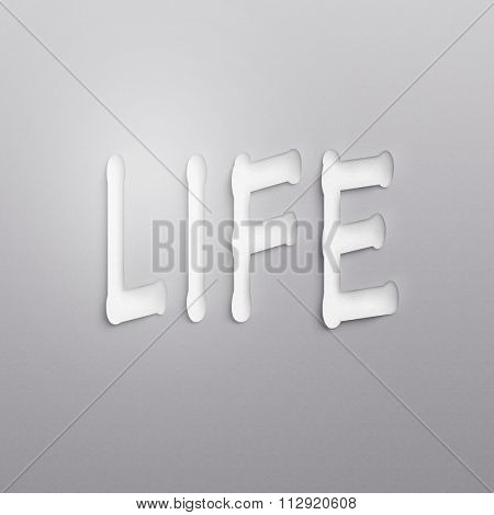 text on the wall or paper, life