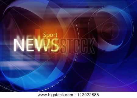 Graphical Sport News Background