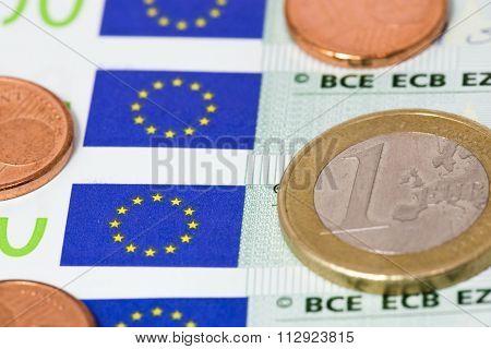 Euros On Euro Bills