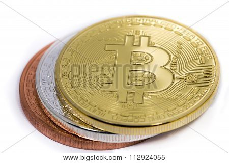 Bitcoins Silver, Bronze And Gold