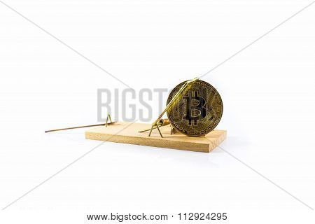 Mousetrap With Gold Bitcoin