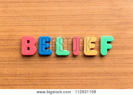 Belief Colorful Word