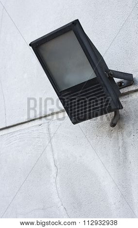Security Floodlight On Wall.