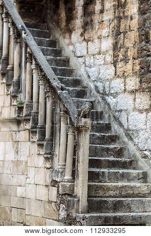 One Grunge Moldering Masonry Staircase
