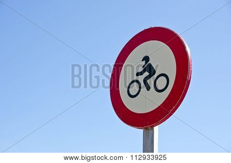 Traffic Sign For Motorcyclists