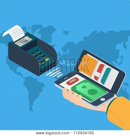 Mobile payment concept.