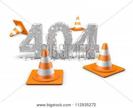 404 Website Error Text Illustration.