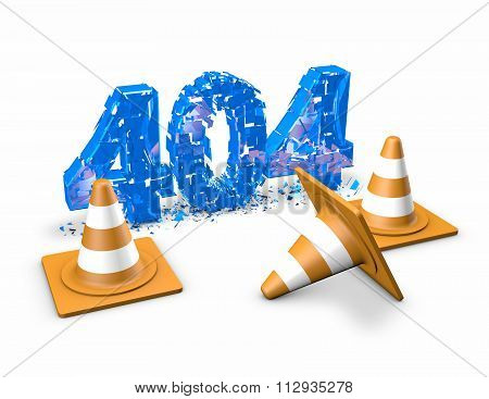 404 Error Abstract 3D Illustration.