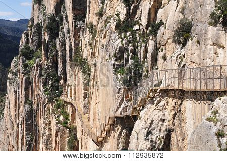 El Chorro in Andalusia,Spain, Entrance to Gaitanes Gorge