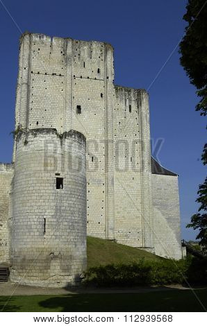 France, The Castle Of Loches In Indre Et Loire