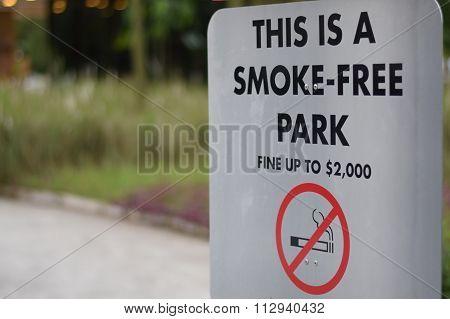 Smoke-Free Park Signboard