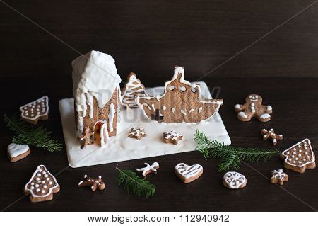 Gingerbread House In The Form Of A Lighthouse