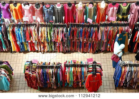 Selecting robe at a kiosk