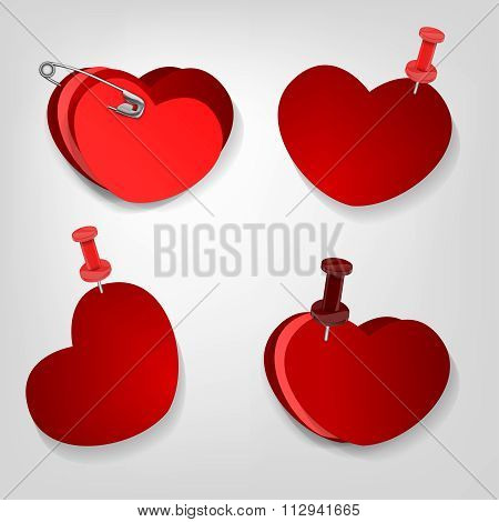 pinned hearts set