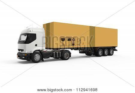 Truck With Big Cardboard Box