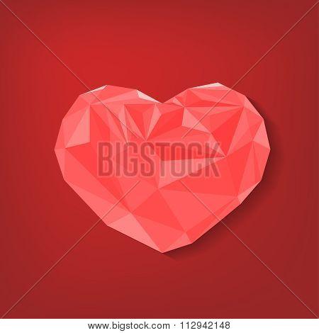 Polygonal heart Background