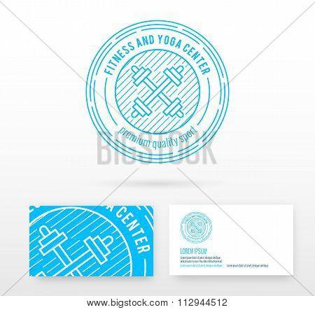 Fitness logo badge vector design