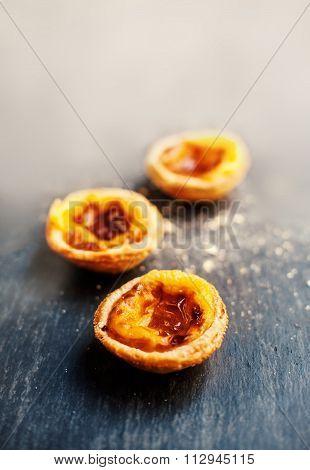 ..pastel De Nata, Portuguese Traditional Creamy Pastry. Pasteis De Nata.