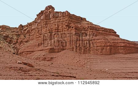 Red Rock Escarpment In The Desert