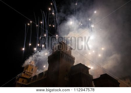 Fireworks For New Year's Eve In Ferrara