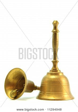 golden hand bell Isolated on White