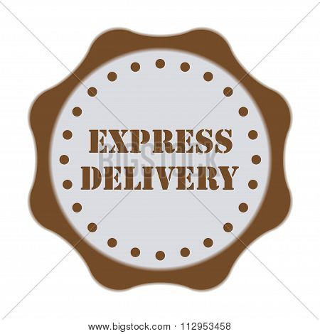 Express delivery badge or stamp isolated on white background. Vector illustration.
