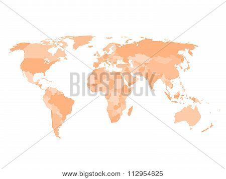 Blank political map of world