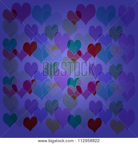 Purple Hearts Background