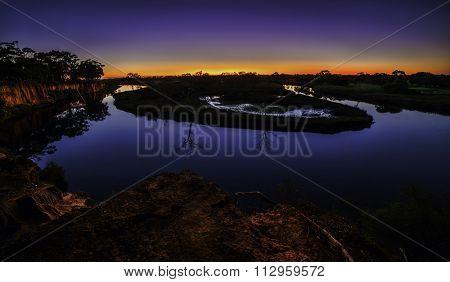 werribee river,dusk, Sunset