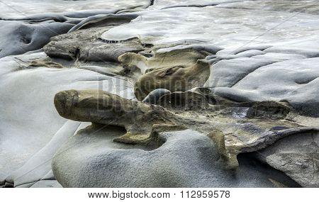 Rock formations from Great Ocean Road coastline
