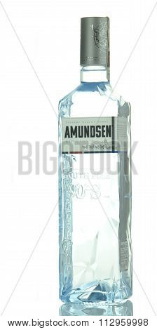 Amundsen premium vodka isolated on white