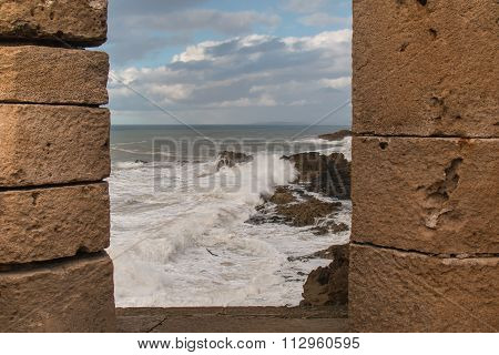 City Fortification And The Ocean, Essaouira, Morocco