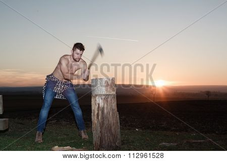 The Stylish Lumberjack At Work.