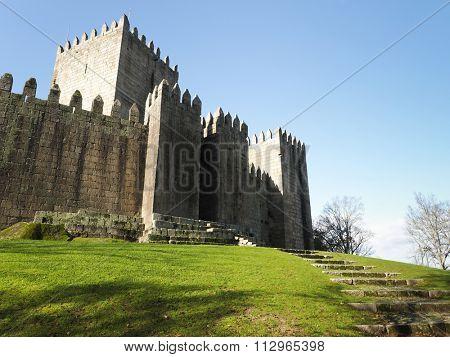 Guimaraes castle, northern of Portugal
