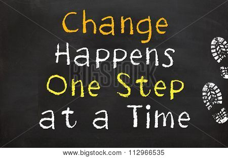 Change Happens One step at a Time