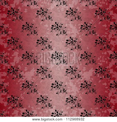 Flowers Beautiful Pattern Grunge Effect