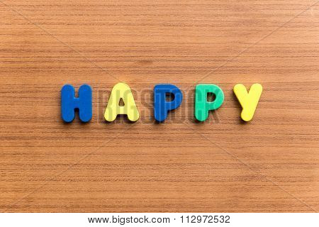 Happy Colorful Word